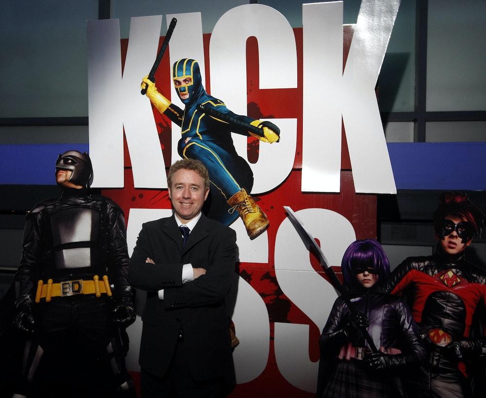 Kick Ass creator Mark Millar attends the Scottish premiere of Kick Ass at Cineworld in Glasgow.   (P...