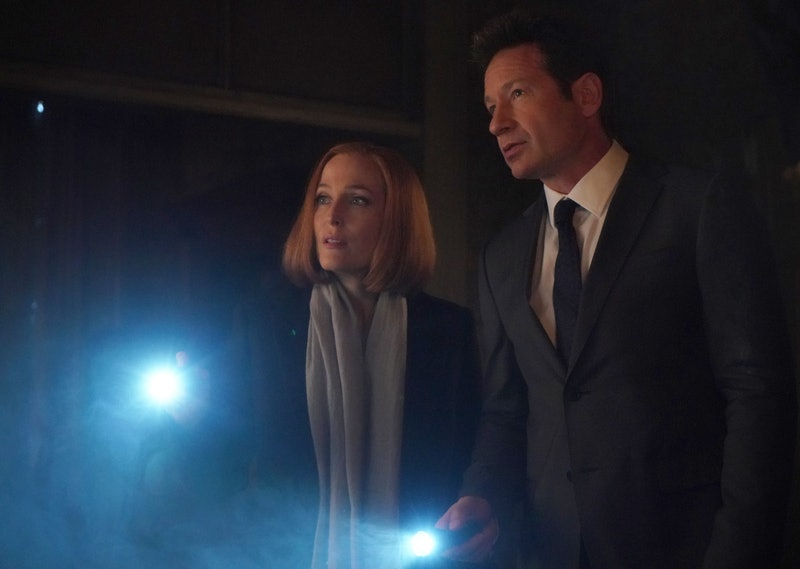 """THE X-FILES:  L-R:  Gillian Anderson and David Duchovny in the """"Nothing Lasts Forever"""" episode of THE X-FILES airing Wednesday, March 14 (8:00-9:00 PM ET/PT) on FOX.  (Photo by FOX Image Collection via Getty Images)"""