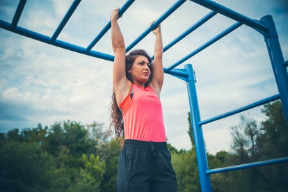 Hanging knee raises are easy to make more advanced.