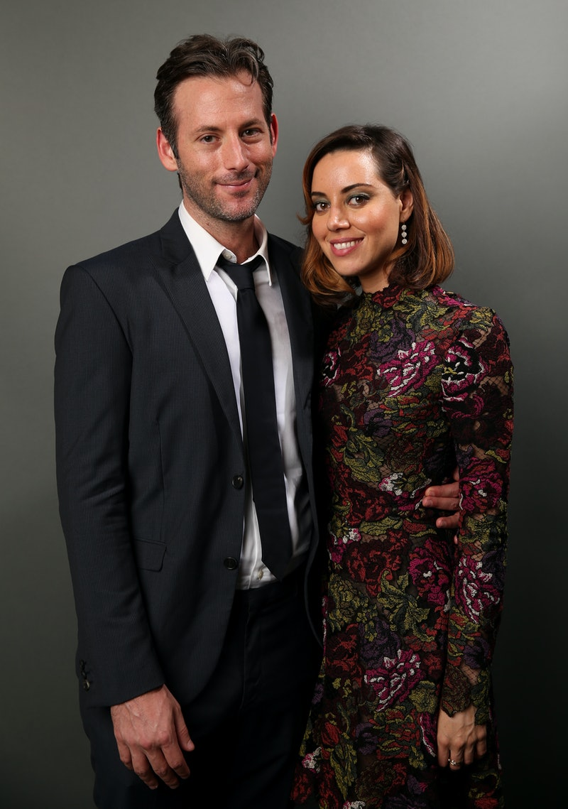LOS ANGELES, CA - AUGUST 08:  Writer/director Jeff Baena (L) and actress Aubrey Plaza pose for a portrait during Sundance NEXT FEST at The Theatre at Ace Hotel on August 8, 2014 in Los Angeles, California.  (Photo by Mark Davis/Getty Images for Sundance NEXT)