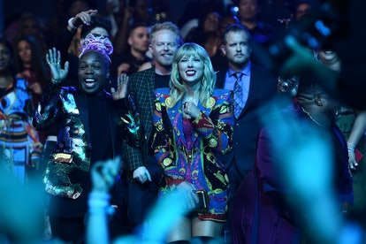 NEWARK, NEW JERSEY - AUGUST 26: Todrick Hall and Taylor Swift during the 2019 MTV Video Music Awards at Prudential Center on August 26, 2019 in Newark, New Jersey. (Photo by Dimitrios Kambouris/VMN19/Getty Images for MTV)