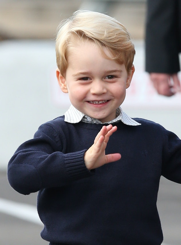 Prince George loves a tractor.