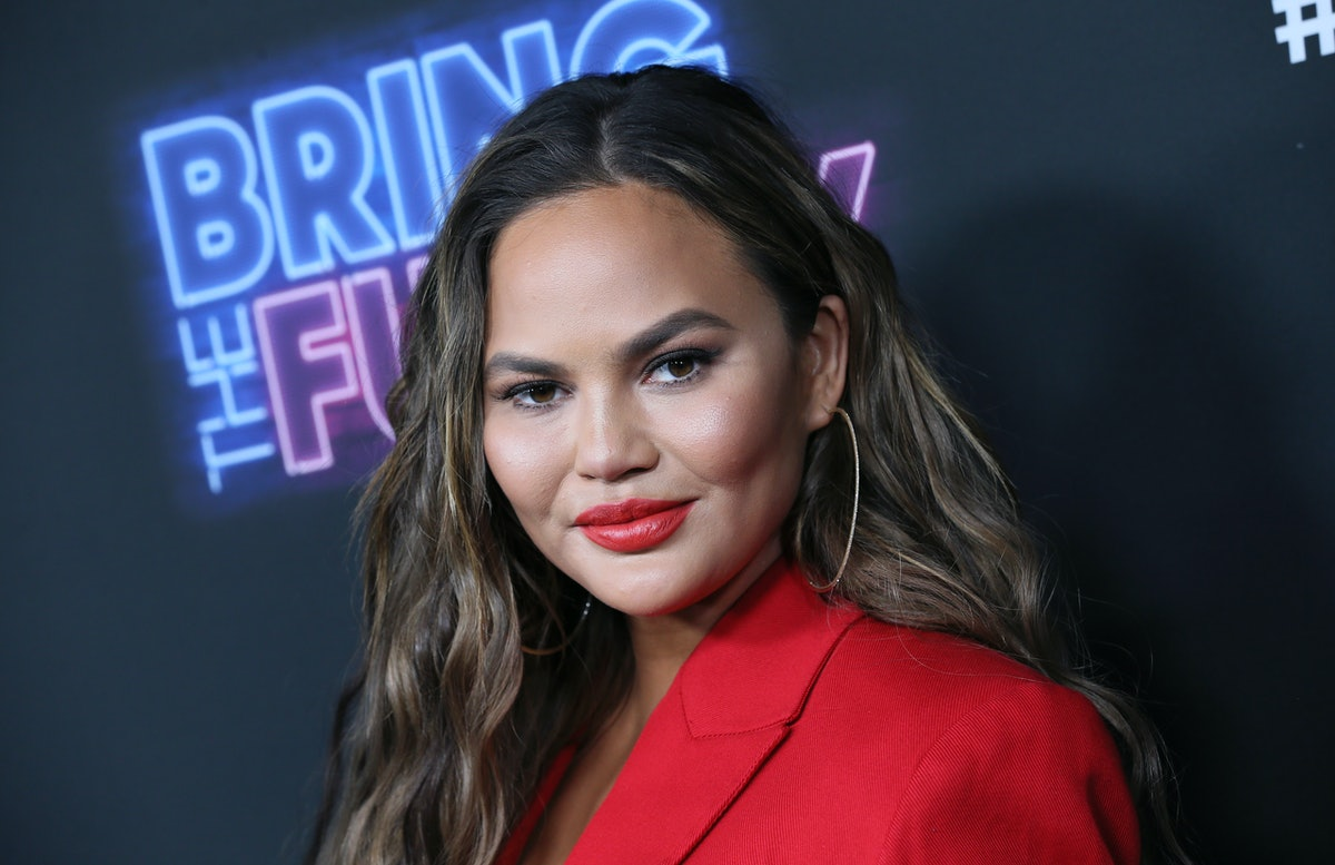 """LOS ANGELES, CALIFORNIA - JUNE 26: Chrissy Teigen attends the premiere of NBC's """"Bring The Funny"""" at Rockwell Table & Stage on June 26, 2019 in Los Angeles, California. (Photo by David Livingston/Getty Images)"""
