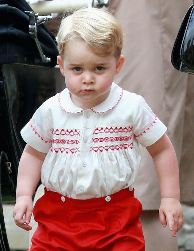 Prince George wears hand-me-downs.