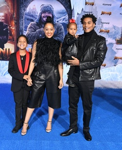 """HOLLYWOOD, CALIFORNIA - DECEMBER 09: Cree Hardrict, Tia Mowry-Hardrict, Cory Hardrict and Cairo Tiahna Hardrict arrives at the Premiere Of Sony Pictures' """"Jumanji: The Next Level"""" on December 09, 2019 in Hollywood, California. (Photo by Steve Granitz/WireImage)"""