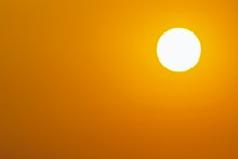 Full frame sun, Global warming from the sun and burning, Heatwave hot sun, Climate change, Heat stro...