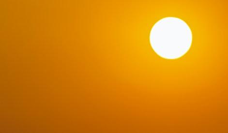Full frame sun, Global warming from the sun and burning, Heatwave hot sun, Climate change, Heat stroke