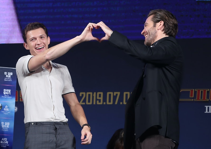 SEOUL, SOUTH KOREA - JUNE 30: Tom Holland and Jake Gyllenhaal attend Fan Fest Red Carpet Event at Dongdaemun Design Plaza on June 30, 2019 in Seoul, South Korea. (Photo by JTBC PLUS/Imazins via Getty Images)
