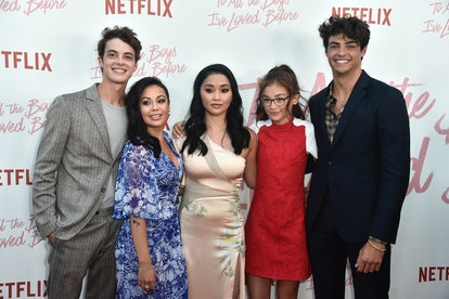 """CULVER CITY, CA - AUGUST 16:Israel Broussard, Janel Parrish, Lana Condor, Anna Cathcart and Noah Centineo  attend the Screening Of Netflix's """"To All The Boys I've Loved Before"""" at Arclight Cinemas Culver City on August 16, 2018 in Culver City, California.  (Photo by Frazer Harrison/Getty Images)"""