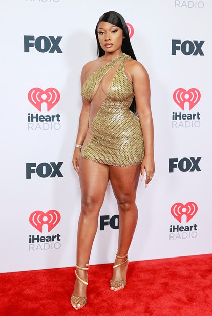 LOS ANGELES, CALIFORNIA - MAY 27: (EDITORIAL USE ONLY) Megan Thee Stallion attends the 2021 iHeartRadio Music Awards at The Dolby Theatre in Los Angeles, California, which was broadcast live on FOX on May 27, 2021. (Photo by Emma McIntyre/Getty Images for iHeartMedia)