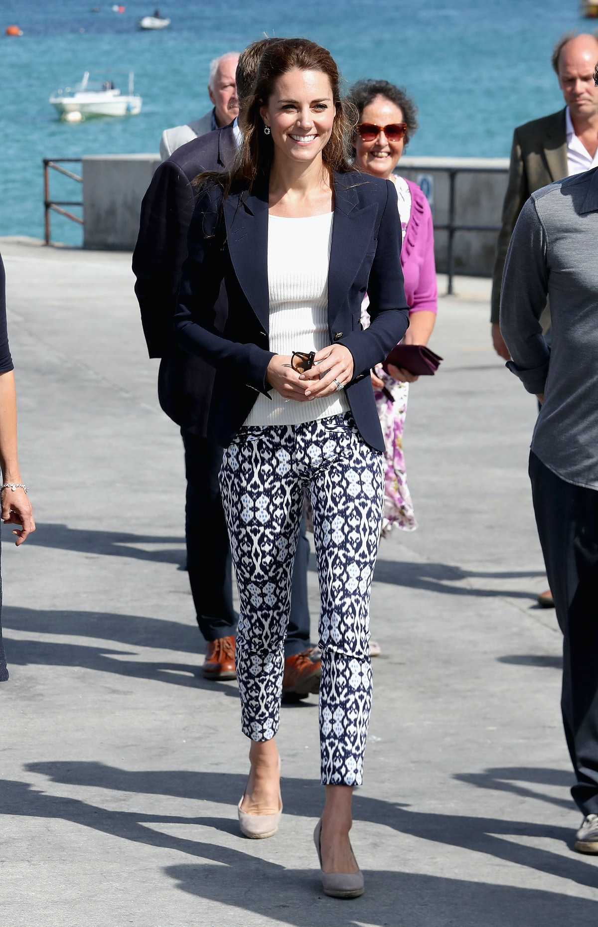 Duchess of Cambridge Kate Middleton visits the Island of St Martin's in the Scilly Isles on Septembe...