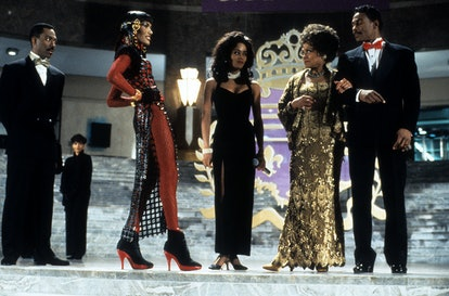 Eddie Murphy, Grace Jones and Robin Givens in a scene from the film 'Boomerang', 1992. (Photo by Par...