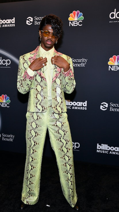 HOLLYWOOD, CALIFORNIA - OCTOBER 14: In this image released on October 14, Lil Nas X poses backstage ...