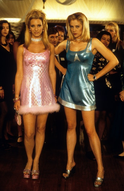 Lisa Kudrow and Mira Sorvino at party in a scene from the film 'Romy And Michele's High School Reuni...