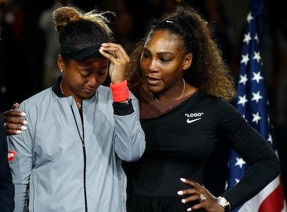 NEW YORK, NY - SEPTEMBER 08:  Naomi Osaka of Japan cries after winning the Women's Singles finals ma...