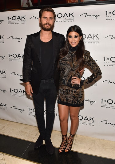LAS VEGAS, NV - MAY 23:  Television personalities Scott Disick (L) and Kourtney Kardashian arrive at...