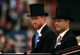 ASCOT, ENGLAND - JUNE 19:  Prince Harry, Duke of Sussex and Prince Edward, Earl of Wessex attend day 1 of Royal Ascot at Ascot Racecourse on June 19, 2018 in Ascot, England.  (Photo by Charlie Crowhurst/Getty Images for Ascot Racecourse)