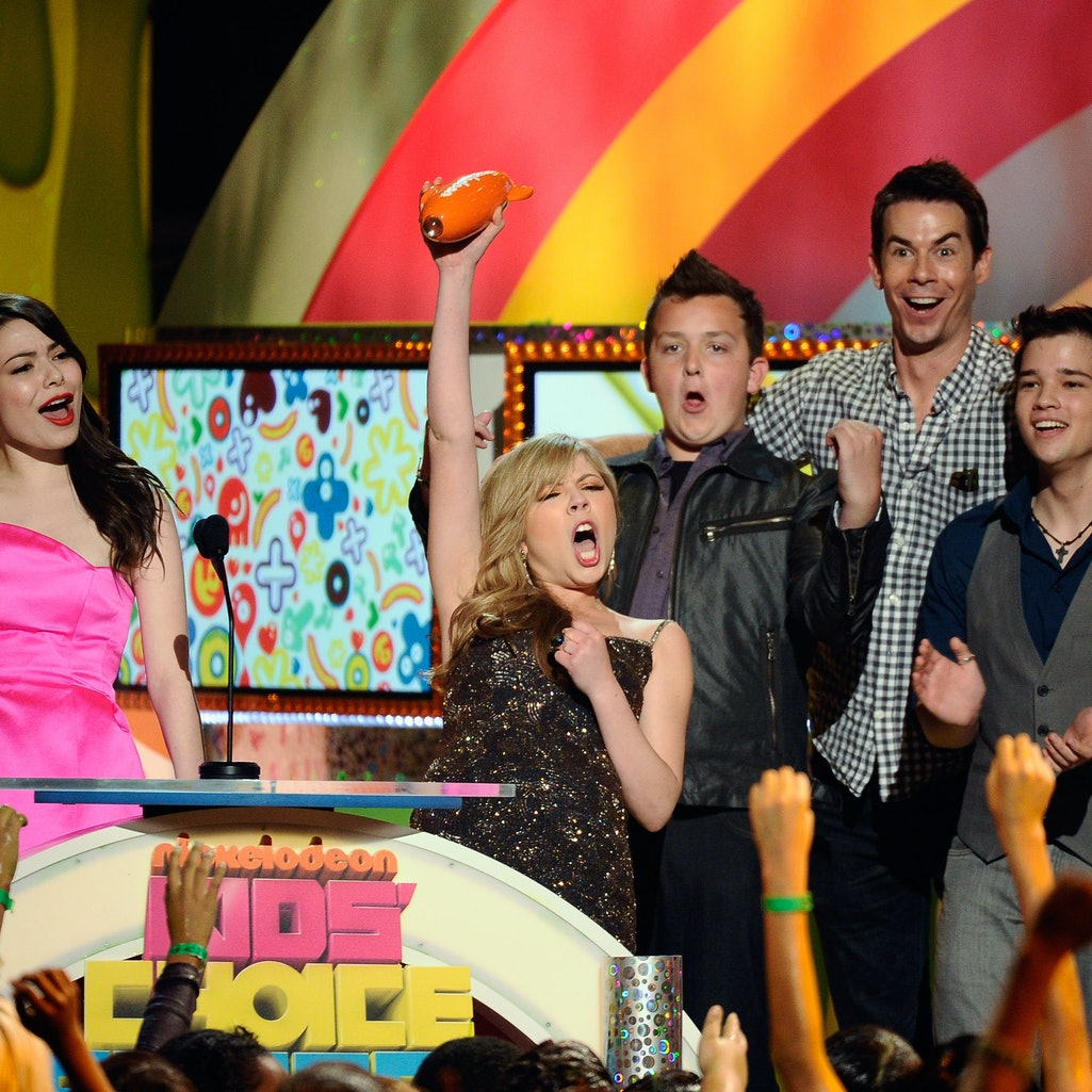 The cast of 'iCarly' is reuniting for a revival at Paramount+. Photos via Kevork Djansezian/Getty Im...