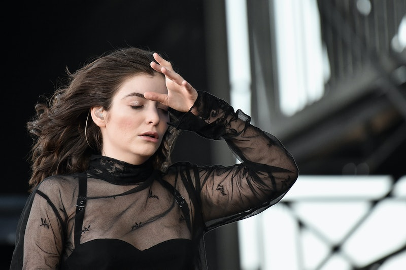 Lorde performs onstage during the 2017 Governors Ball Music Festival on June 2, 2017, in New York City.
