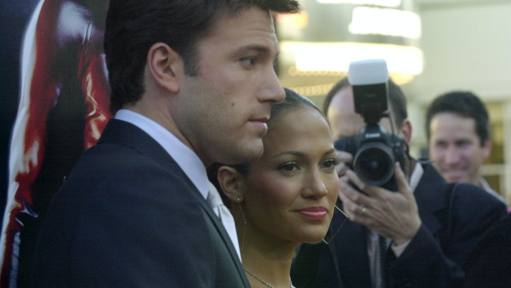 Jennifer Lopez & Ben Affleck during Daredevil Premiere - Arrivals at Mann Village Theatre in Westwoo...