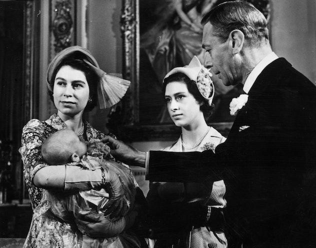 King George VI at Princess Anne's christening.