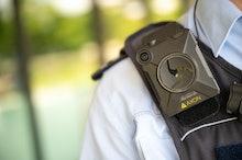 14 July 2020, Baden-Wuerttemberg, Stuttgart: A police officer is wearing a body cam. Photo: Sebastia...
