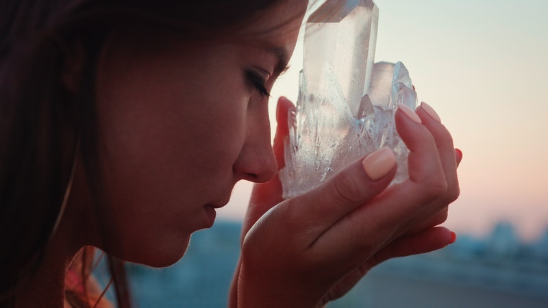 How To Charge Crystals & Set Your Intentions When You Meditate With Them