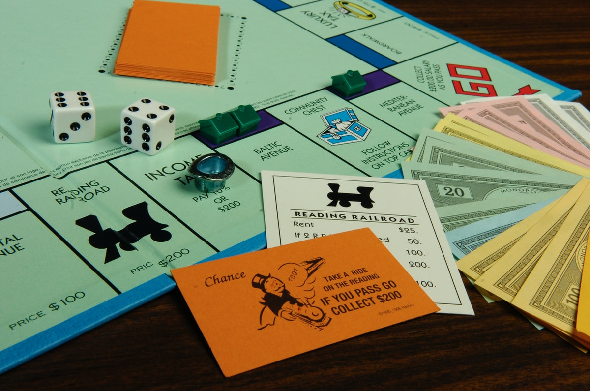 You can play Monopoly with one other person for a fun two-person game.