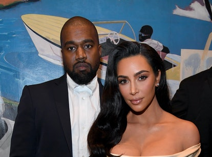 LOS ANGELES, CALIFORNIA - DECEMBER 14: (L-R) Kanye West and Kim Kardashian West attend Sean Combs 50...