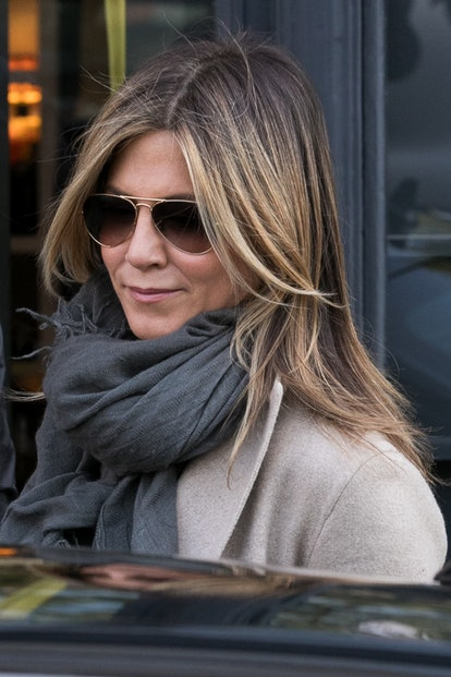 Jennifer Aniston wearing sunglasses.
