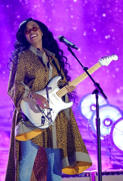 NASHVILLE, TENNESSEE - JUNE 09: H.E.R. performs onstage for the 2021 CMT Music Awards at Bridgestone...