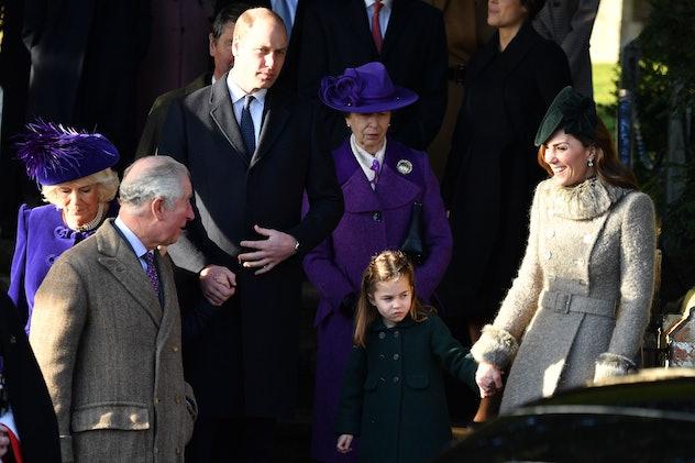 Prince Charles with Princess Charlotte.