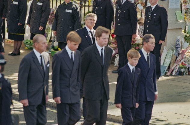 Prince Philip was there for his grandsons at Princess Diana's funeral.