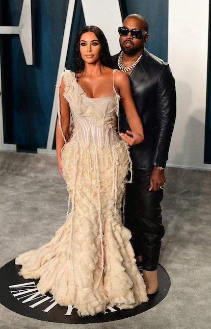 Kim Kardashian, shown here in a white dress alongside Kanye West, said her marriage to her husband m...
