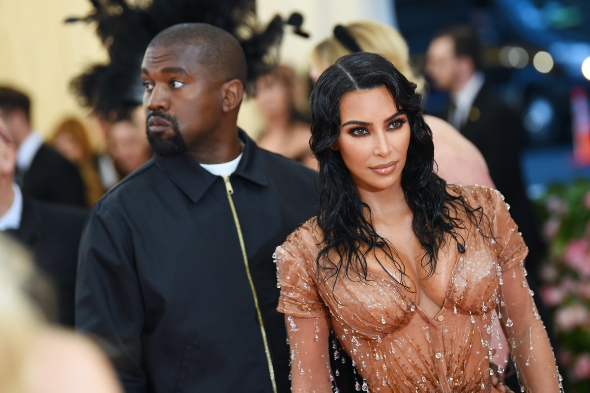 """Kim Kardashian, shown here with estranged husband Kanye West, said she wanted a relationship embodying """"total happiness."""""""