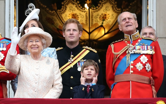 Prince Philip with his youngest grandchild.