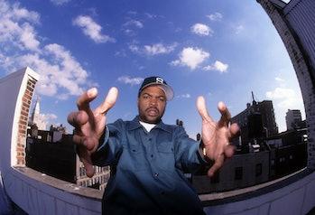 NEW YORK, NEW YORK--NOVEMBER 11:  Rapper Ice Cube (aka O'Shea Jackson) appears in a portrait taken o...