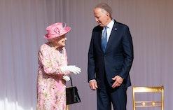 WINDSOR, ENGLAND - JUNE 13: Queen Elizabeth II and US President Joe Biden at Windsor Castle on June ...