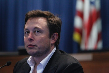 Elon Musk, co-founder and CEO of Tesla and founder and CEO of Space Exploration Technologies, speaks...