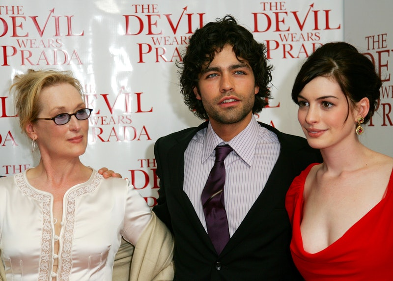 NEW YORK - JUNE 19:  (L-R) Actors Meryl Streep, Adrian Grenier and Anne Hathaway attend the 20th Cen...