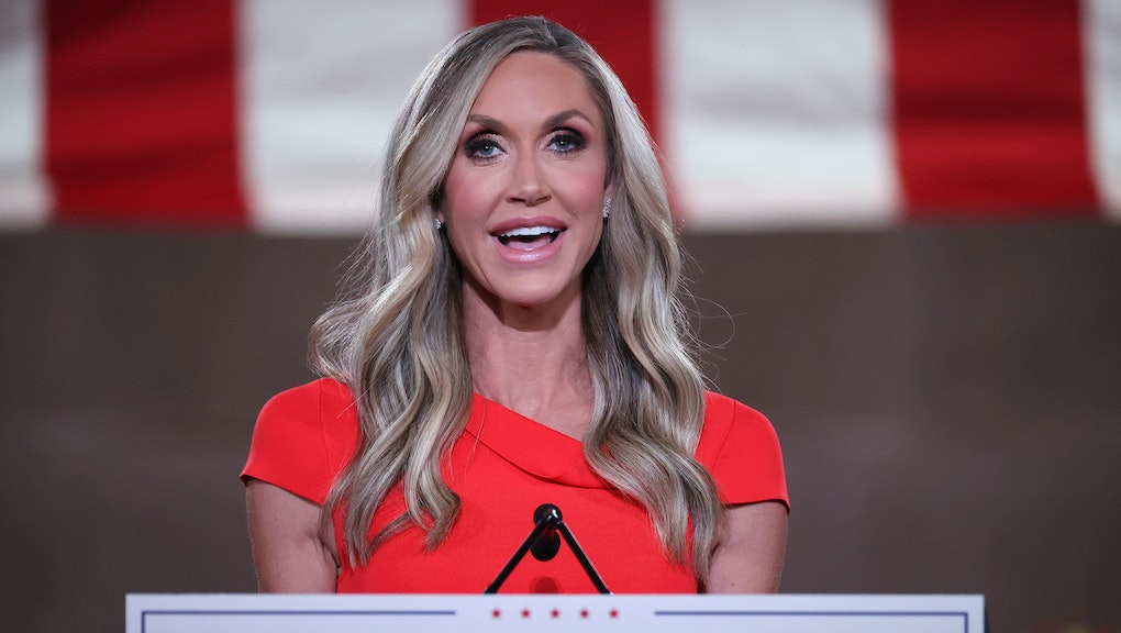 WASHINGTON, DC - AUGUST 26: Lara Trump, daughter-in-law and campaign advisor for U.S. President Dona...