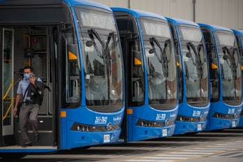 Transmilenio and SITP public transport buses of Bogota bought 596 100% electric buses from China man...