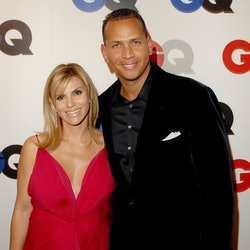 Alex Rodriguez and then-wife Cynthia Scurtis arrive at GQ Celebrates 2007 Men Of The Year in 2007 in Hollywood, California.