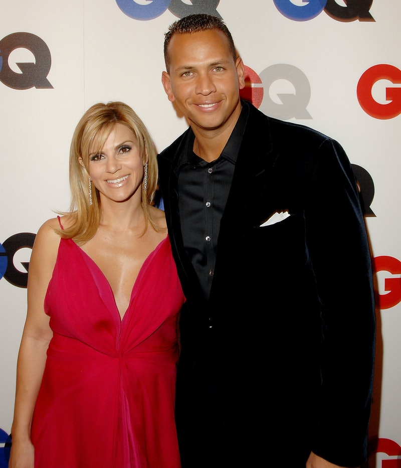 Alex Rodriguez and then-wife Cynthia Scurtis arrive at GQ Celebrates 2007 Men Of The Year in 2007 in...