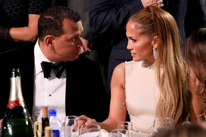 Alex Rodriguez and Jennifer Lopez attend the 25th Annual Critics' Choice Awards in 2020 in Santa Mon...