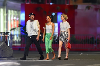 NEW YORK, NEW YORK - JUNE 11: Zoe Kravitz is seen out and about in Manhattan on June 11, 2021 in New...