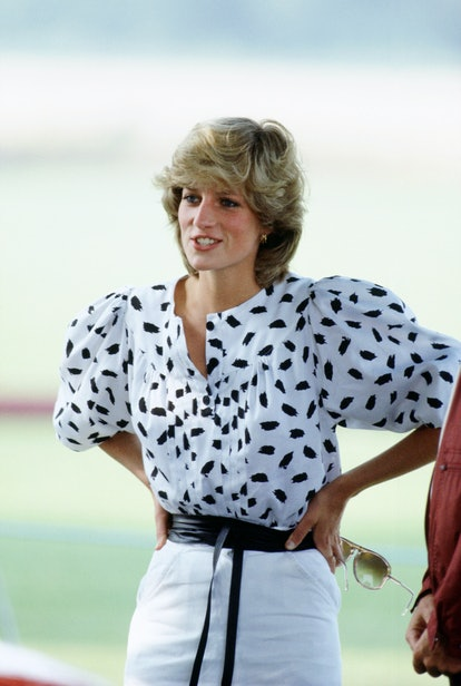 CIRENCESTER, UNITED KINGDOM - AUGUST 09:  Princess Diana Watching A Polo Match In Cirencester.  (Photo by Tim Graham Photo Library via Getty Images)