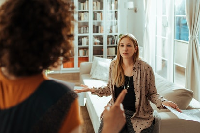 An unsupportive partner will talk over you.