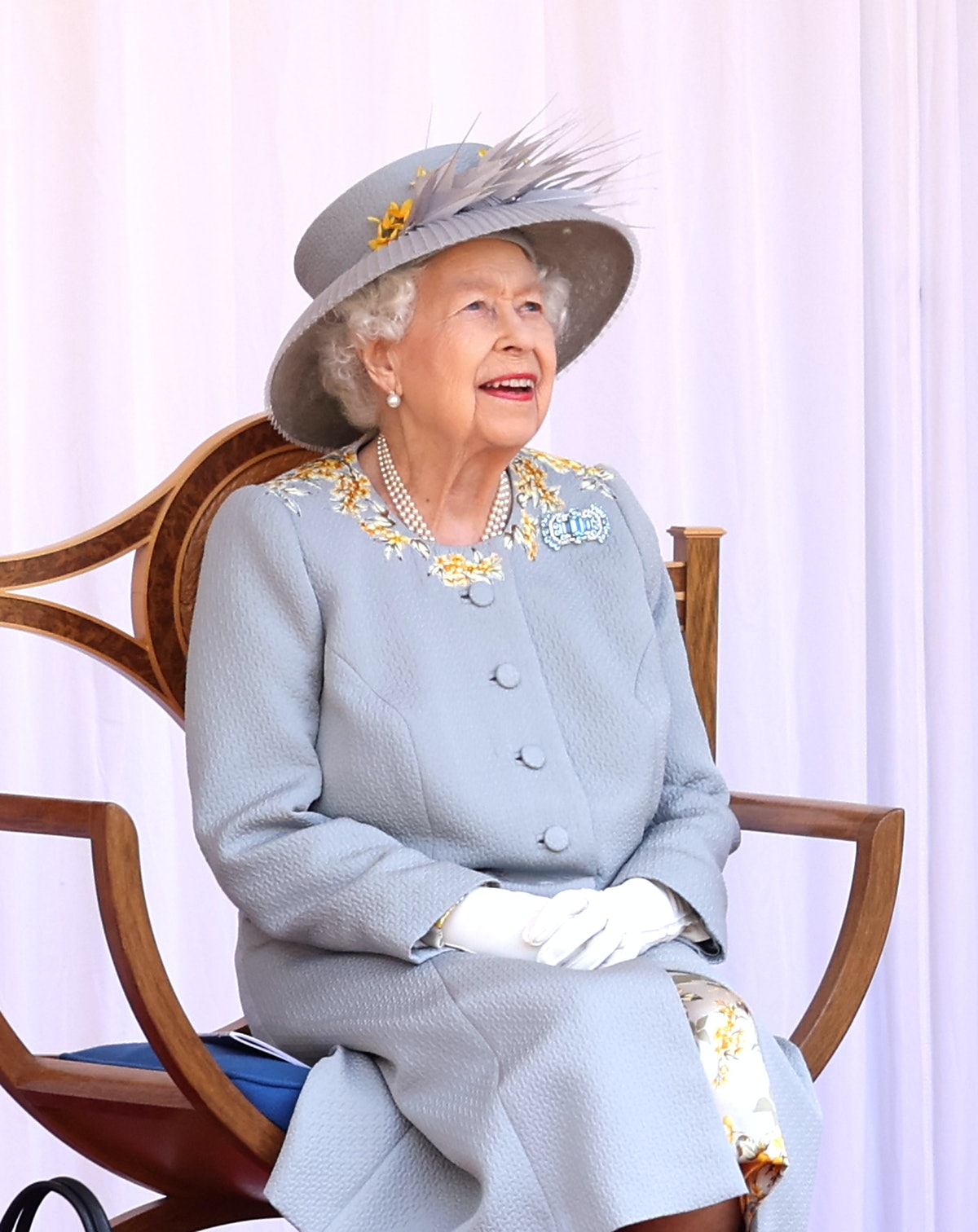 WINDSOR, ENGLAND - JUNE 12: attends a military ceremony in the Quadrangle of Windsor Castle to mark ...