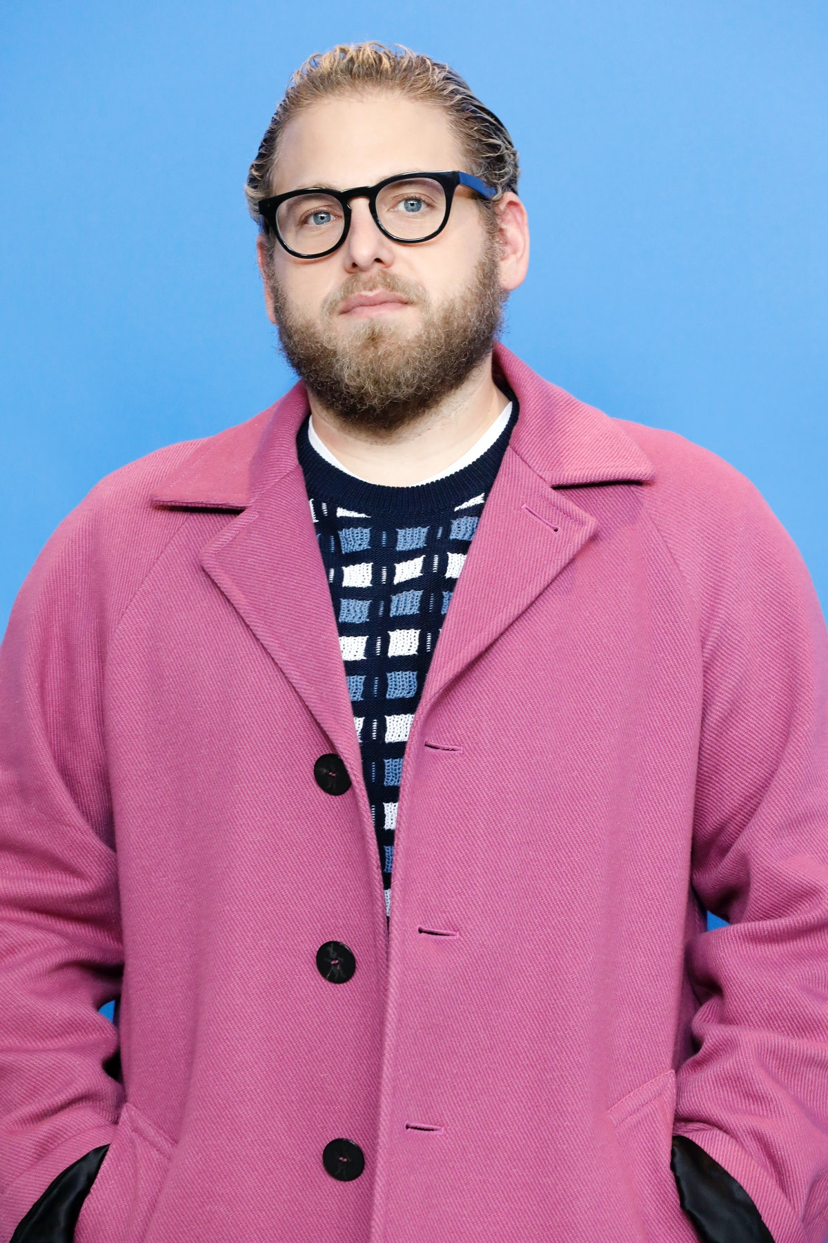 BERLIN, GERMANY - FEBRUARY 10: (EDITORS NOTE: Image has been digitally retouched) Jonah Hill attends...